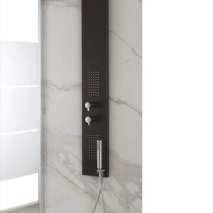Colonna doccia in acciaio nero